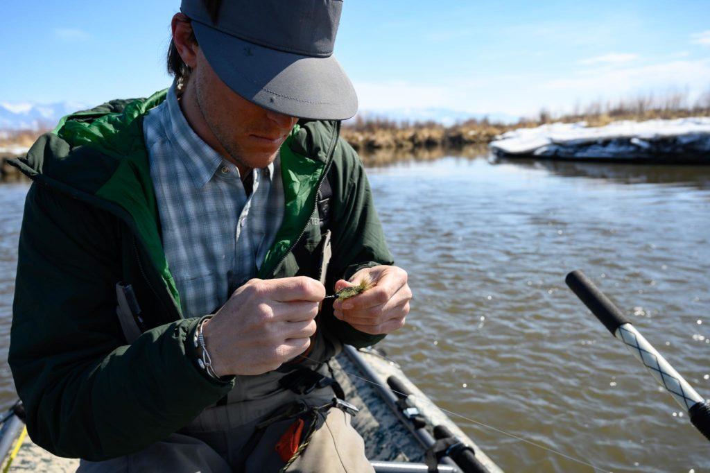 Spring streamer fishing on the Gallatin River