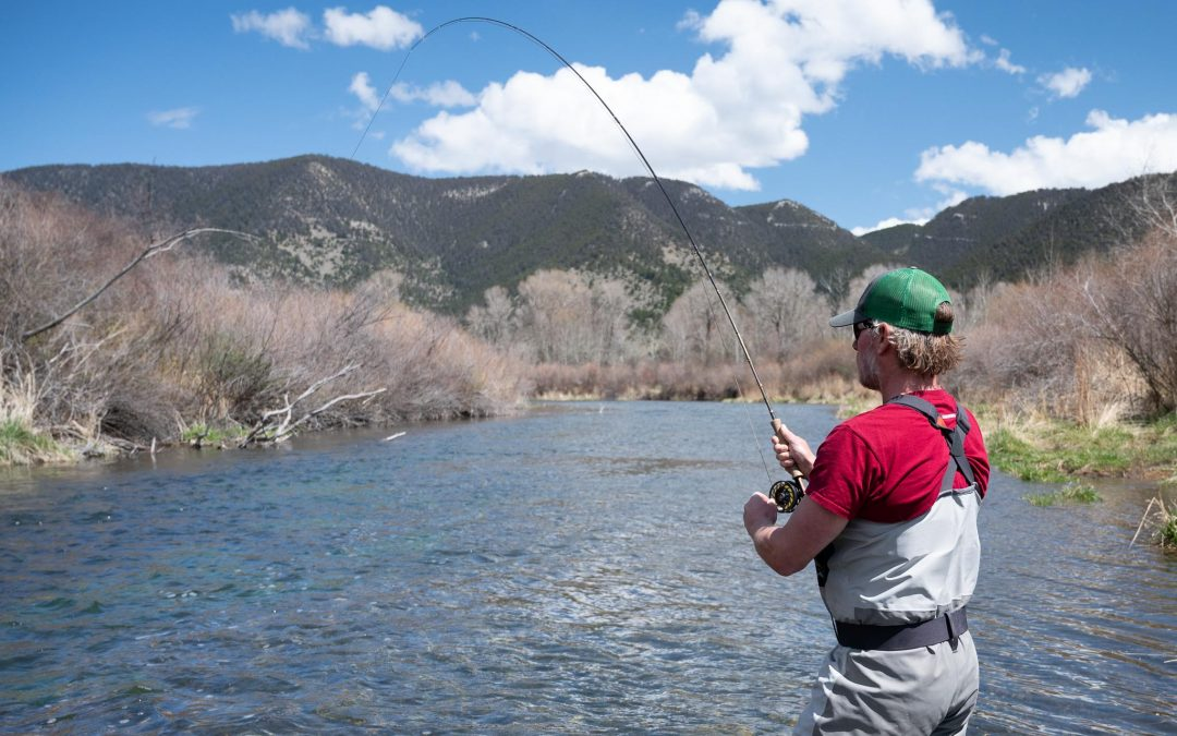 Angler fly fishing on DePuy Spring Creek