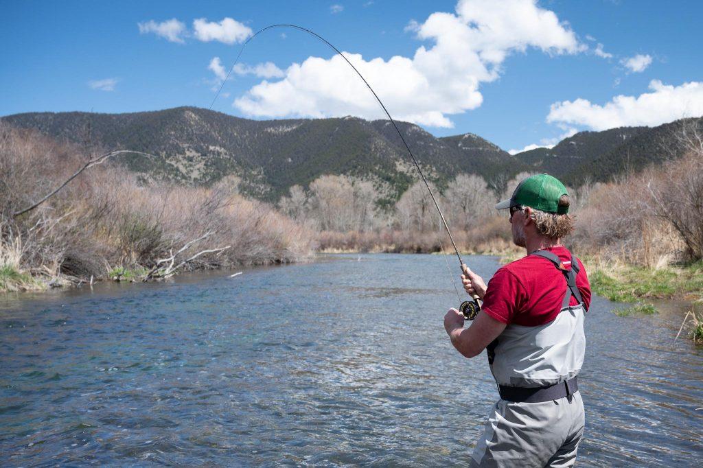 Angler fly fishing on DePuy Spring Creek