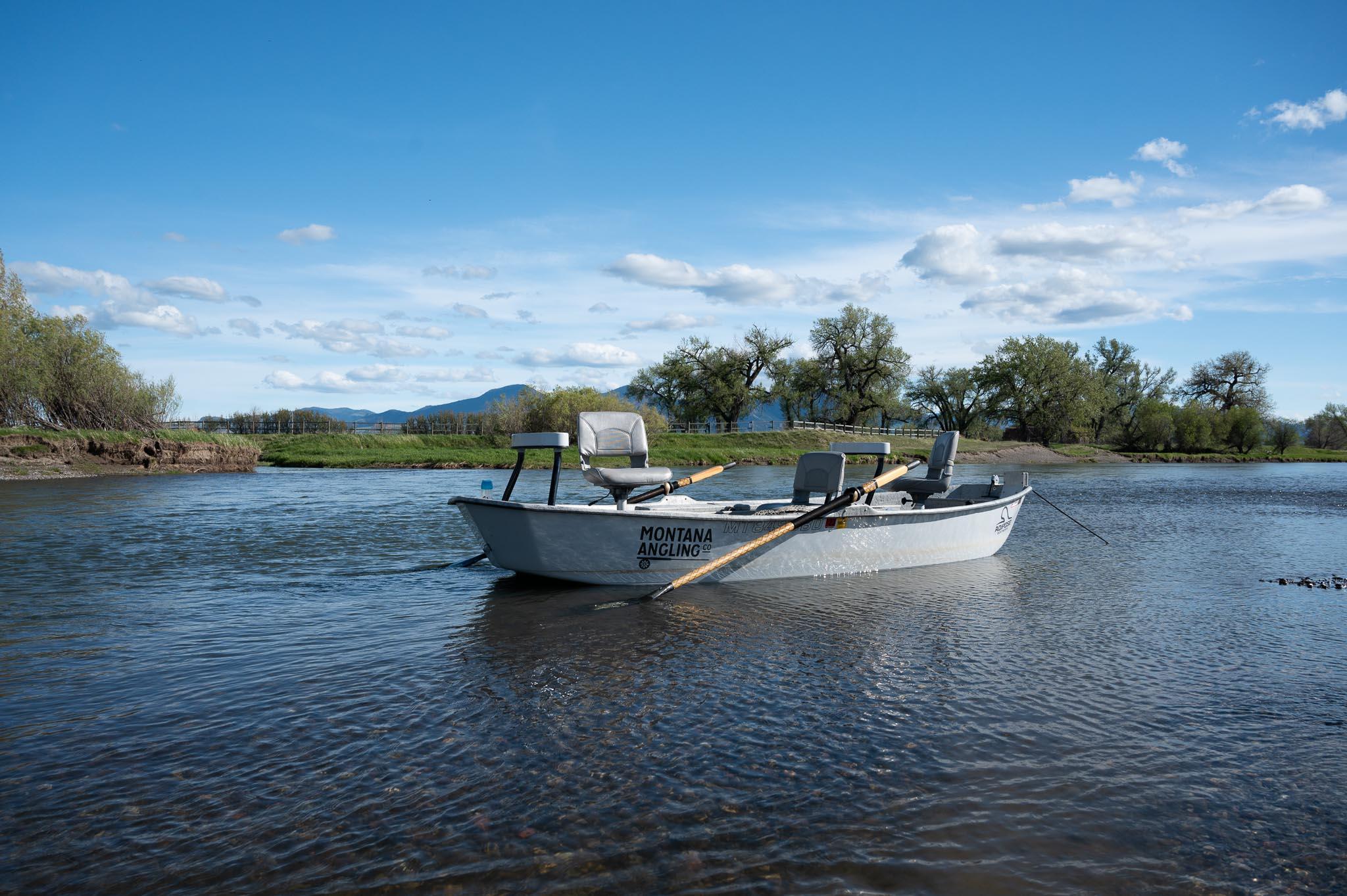 Drift Boat Fly fishing on Montana's Missouri River