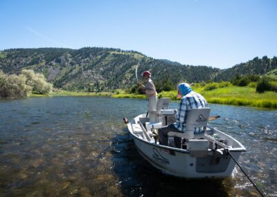 Fly fishing the side channels of Montana's Missouri River