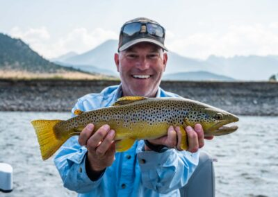 Angler with a Yellowstone River hopper eater