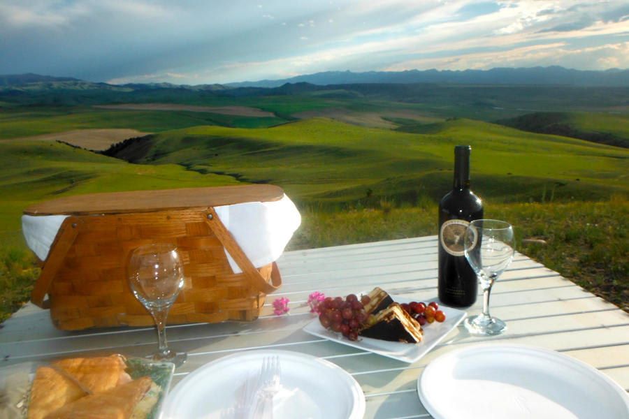 Picnic Dinner at the Grey Cliffs Ranch