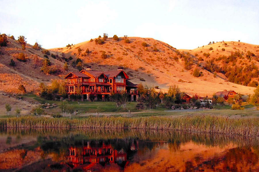 Sunset at the Grey Cliffs Ranch Lodge