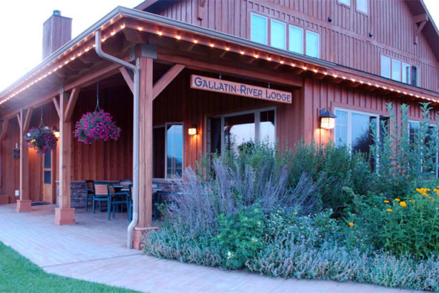 Entrance to Gallatin River Lodge
