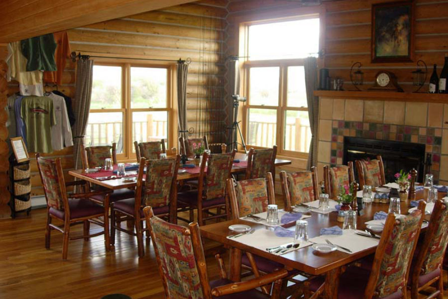 Dining room at the Madison Valley Ranch