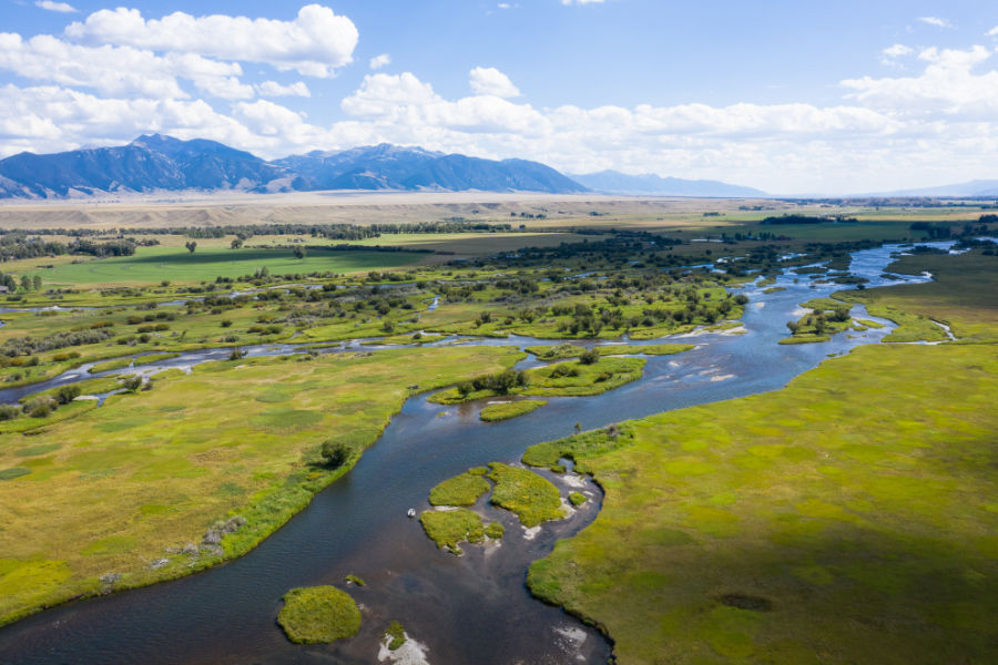Madison River channels in Montana