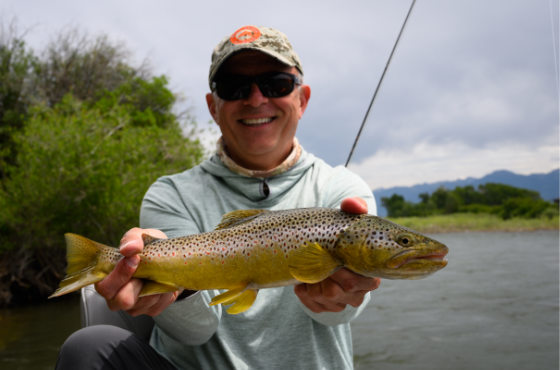 Angler with a wild Yellowstone River trout