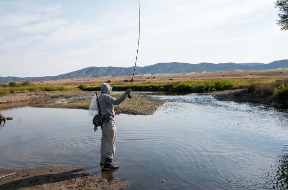angler wade fishing private water
