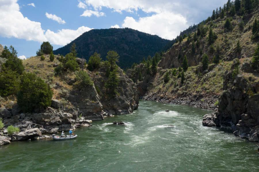 Fly fishing in Yankee Jim Canyon on the Yellowstone River