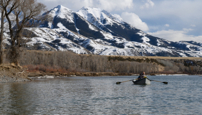 Spring Fly Fishing on the Yellowstone River