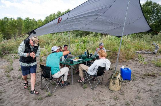 Riverside dining in Montana